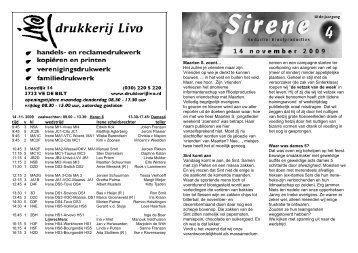 4. 14 November 2009 - SV Irene Volleybal