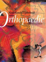 NTvO OKT 2005 DEF - Nederlands Tijdschrift voor Orthopaedie