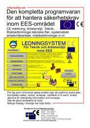 Ladda hem information om programvaran ledningssystem - mpsa.se