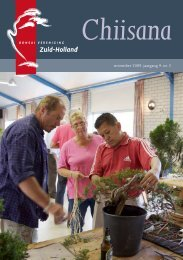 november 2009. jaargang 9. nr. 2 - Bonsaivereniging Zuid-Holland