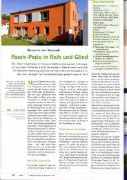Passiv-Patio in Reih und Glied - Baumeister Haus