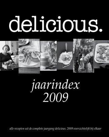 Download hier de gratis jaarindex 2009. - Delicious