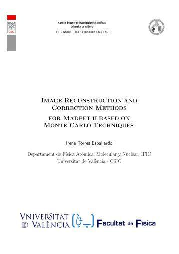 IMAGE RECONSTRUCTION AND ... - IFIC - Universitat de València