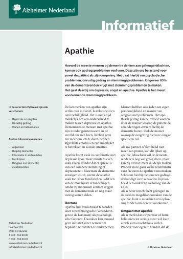 Apathie - Alzheimer Nederland