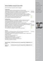 Dinerbuffetten 2013 - Louwman Museum