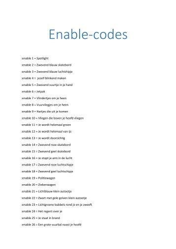 Nieuw! Enable-codes met alles erop en eraan voor VIP's!