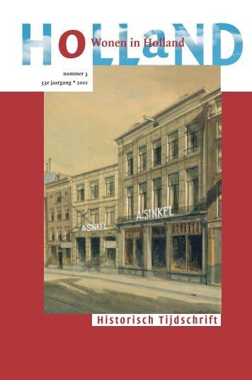 2001-3 - Holland Historisch Tijdschrift