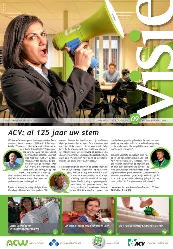ACV: al 125 jaar uw stem