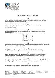 SKOLSKJUTSREGLEMENTE § 1 § 2 § 3 § 4 § 5 § 6 § 7 § 8 - Klippan