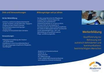 Flyer A4 Autismus Weiterbildung - Der Schwesternverband