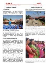Nieuwsbrief december 2009 - Stichting Holland Building Nepal