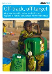 Off-track, off-target - WaterAid