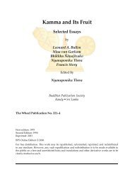 Kamma and its Fruit: Selected Essays - Buddhist Publication Society