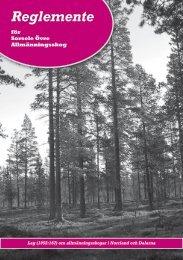 Reglemente - Allmänningsskog i Västerbotten