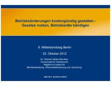 IV. Die gesetzlichen Regelungen der §§ 111 – 112 BetrVG und sich ...