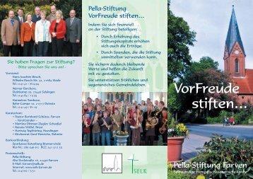 Flyer - Pella-Stiftung
