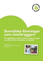 Somaliska föreningar som överbryggare - Arvsfonden