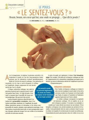 Le pouls - Ordre des infirmières et des infirmiers du Québec