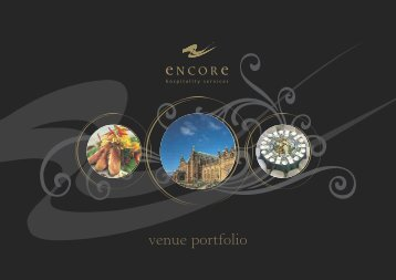 Venues Brochure - Encore Hospitality Services