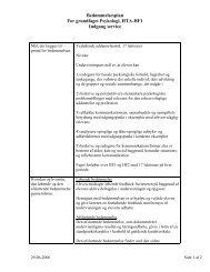 Bedømmelsesplan For grundfaget Psykologi, HTA ... - Dokumenter