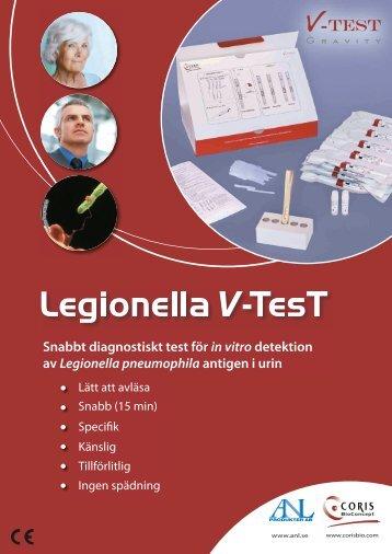 Snabbt diagnostiskt test för in vitro detektion av ... - ANL Produkter AB