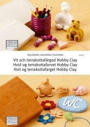 Vit och terrakottafärgad Hobby Clay Hvid og ... - skAPA KULtur