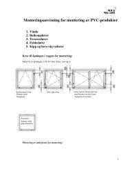 Monteringsanvisning for montering av PVC ... - Venta Windows