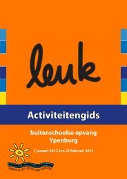 Activiteitengids - Stichting Rijswijkse Kinderopvang