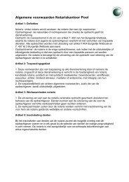 Algemene voorwaarden Notariskantoor Pool