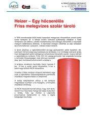 Heizer – Egy hőcserélős Friss melegvizes szolár tároló - Alternatív ...