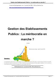 Gestion des Etablissements Publics : La méritocratie en marche ?