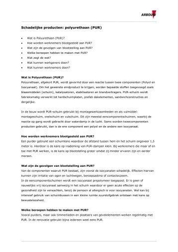 PUR: informatie voor arbodienstverleners - Arbouw