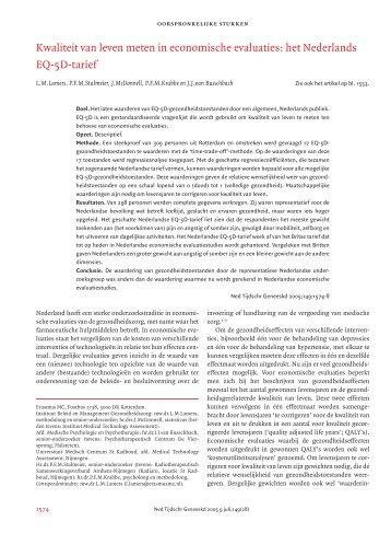 Nederlands Tijdschrift voor Geneeskunde