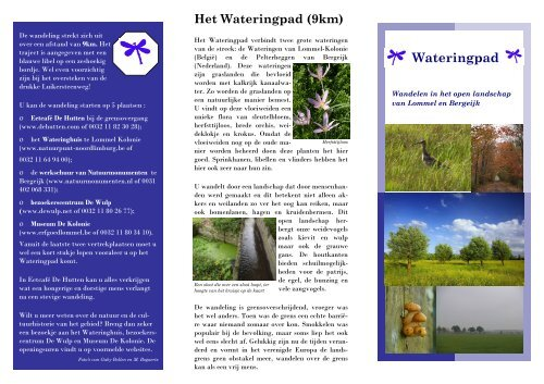 folder wateringpad.pub - Natuurpunt Neerpelt