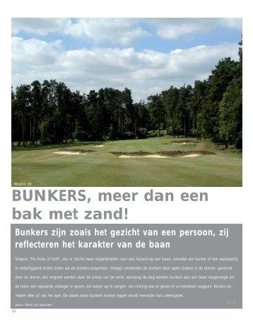 BUNKERS, meer dan een bak met zand! - Diamond Golf Architects