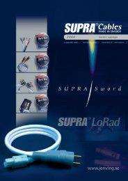 Ply högtalarkabel - Supra cables