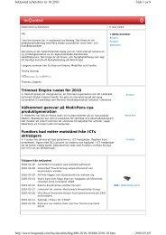 Trimmat Empire rustat för 2010 Välkommet gensvar ... - Mynewsdesk