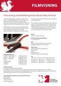 GÖTEBORG INTERNATIONAL FILM FESTIVAL EVENTERBJUDANDE - Page 4