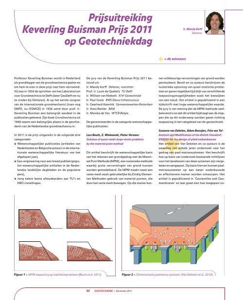 Uitreiking Keverling Buisman Prijs 2011 - GeoTechniek
