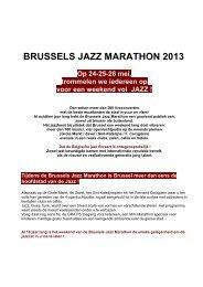 BRUSSELS JAZZ MARATHON 2013 - VisitBrussels