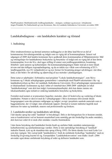 Metodebeskrivelse for udarbejdelse og brug af landskabsanalyser
