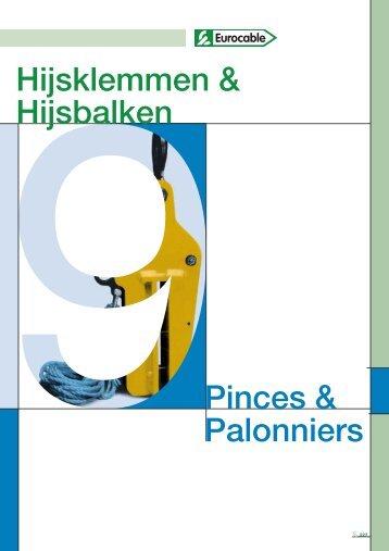 Hijsklemmen & Hijsbalken Pinces & Palonniers - Eurocable