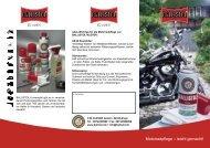 www.ballistol.de Motorradpflege – leicht gemacht!