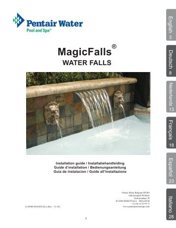 MagicFalls - Pentair Pool Europe