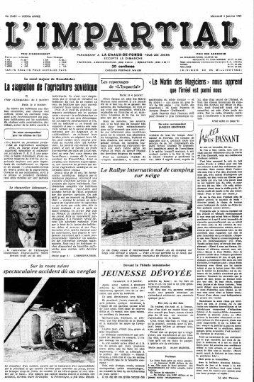 1 - Archives historiques | L'Express | L'Impartial