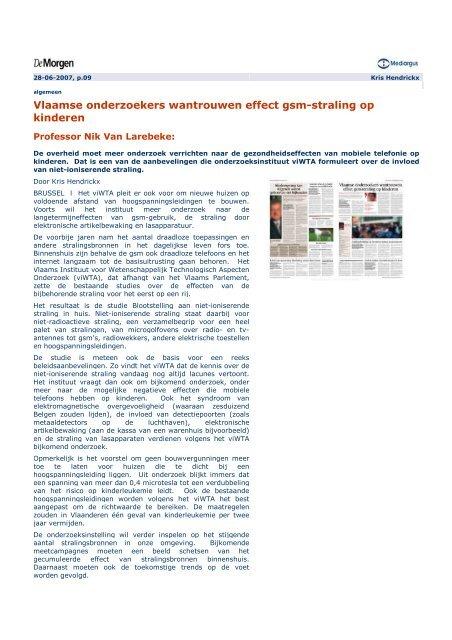 Vlaamse onderzoekers wantrouwen - Instituut Samenleving en ...