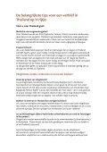 De belangrijkste tips voor een verblijf in Thailand op 'n rijtje: - Page 2