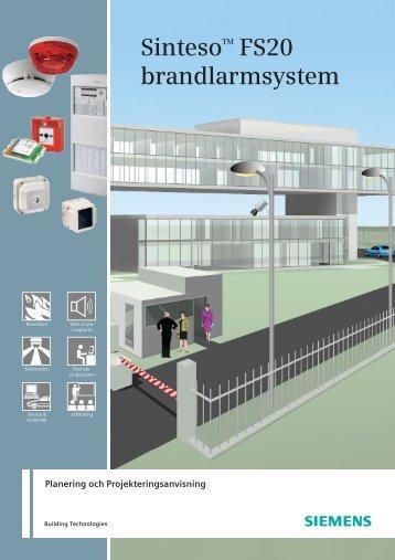SintesoTM FS20 brandlarmsystem - Industry - Siemens