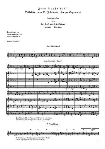 F r a u N a c h t i g a l l Volkslieder vom 12. Jahrhundert bis zur ...