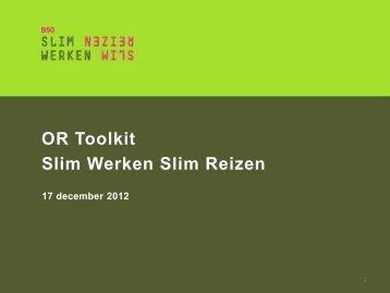 OR Toolkit Slim Werken Slim Reizen - Platform Slim Werken Slim ...